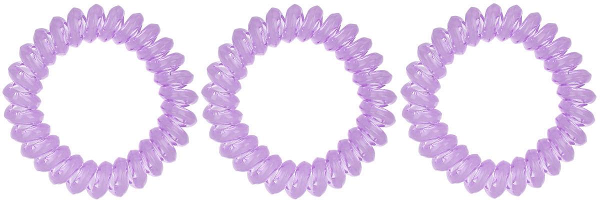 Резинка-браслет для волос Mitya Veselkov, цвет: сиреневый, 3 шт. REZ1