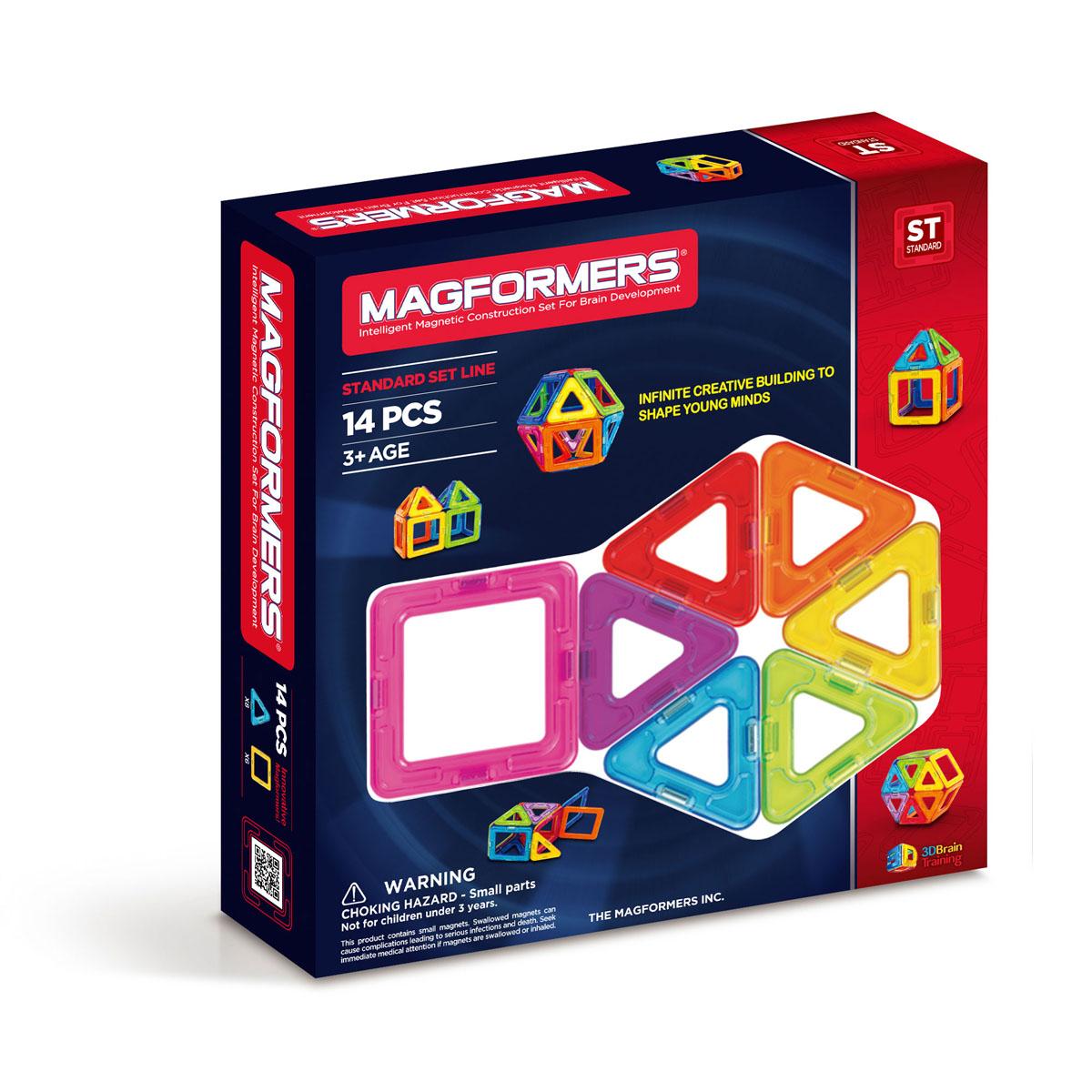 Magformers Магнитный конструктор 63069 1463069/701003Отличный набор, который можно смело рекомендовать детям от 1 года, идеально подходит для начала общения с семейством конструкторов Magformers.