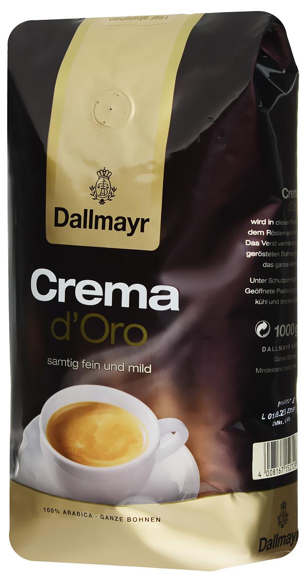 Dallmayr Crema dOro кофе в зернах, 1 кг527000000Dallmayr Crema dOro - кофе, составленный из элитных сортов зерен, выращенных на высокогорных плантациях. Тщательно подобранная композиция благородных кофейных зерен и щадящая обжарка дают нежную бархатную пенку и сбалансированный аромат.