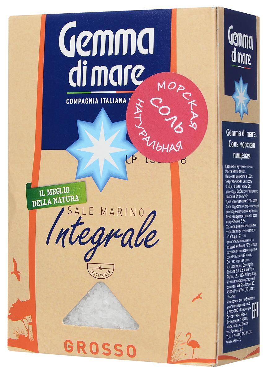 Gemma di Mare соль морская натуральная крупная, 1 кг