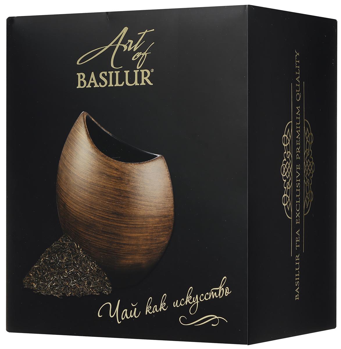 Basilur Special черный листовой чай + ваза Аура Дерево, 100 г50320-00Уникальный стильный набор Art Of Basilur представляет собой дизайнерскую керамическую вазу и элитный цейлонский чай Basilur Special. Особый, качественный черный листовой чай с типсами - верхними молодыми чайными почками - привнесет вкус роскоши, а элегантная керамическая ваза Аура послужит прекрасным дополнением к интерьеру вашего дома. Ваза изготовлена из керамики высокого качества и стилизована под деревянную текстуру. Небольшой размер и утонченность линий вазы подчеркнут красоту яркого невысокого букета цветов или может использоваться в качестве стильного декоративного элемента. Она подчеркнет богатство интерьера и оригинальный вкус владельца, а качественный цейлонский чай окажется приятным согревающим дополнением. Материал вазы: керамика Высота вазы: 18 см Размер отверстия для цветов: 10 x 6 см Диаметр основания вазы: 6,5 см Страна-изготовитель вазы: Китай