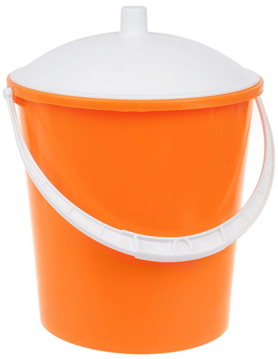 Ведро Альтернатива Крепыш, с крышкой, цвет: оранжевый, белый, 5 лК341_оранжевый, белыйВедро Альтернатива Крепыш изготовлено из высококачественного цветного пластика. Оно легче железного и не подвергается коррозии. Ведро оснащено ручкой для удобной переноски и крышкой. Такое ведро станет незаменимым помощником в хозяйстве. Диаметр (по верхнему краю): 22 см. Высота (без учета крышки): 20,5 см.