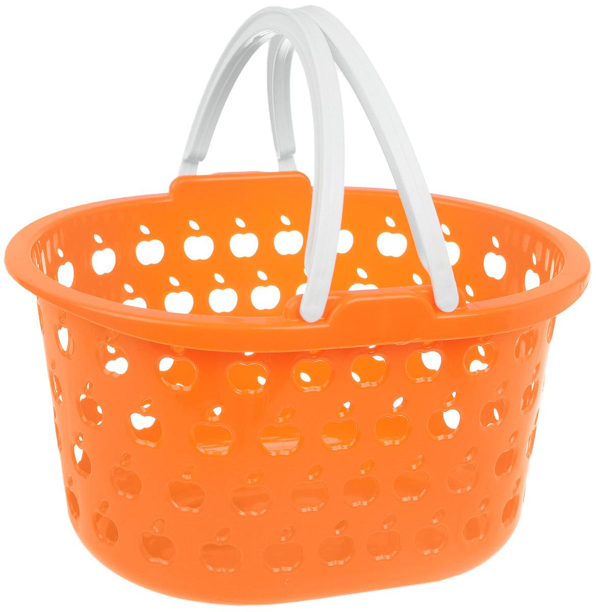 Корзина Полимербыт Стайл, цвет: оранжевый, белый, 3,2 лС832_оранжевый, белыйОвальная корзина Полимербыт Стайл изготовлена из высококачественного цветного пластика и декорирована перфорацией в виде яблок. Она предназначена для хранения различных мелочей дома или на даче. Для удобства переноски имеются две ручки. Позволяет хранить мелкие вещи, исключая возможность их потери. Корзина очень вместительная. Элегантный выдержанный дизайн позволяет органично вписаться в ваш интерьер и стать его элементом. Размер корзины (без учета ручек): 23 см х 18,5 см х 14 см.