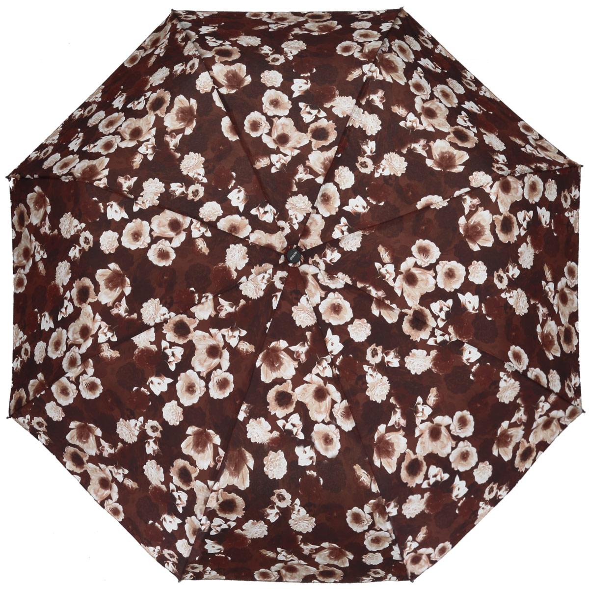 """Зонт женский Doppler """"Odeur"""", автомат, 3 сложения, цвет: коричневый. 7441465OD"""