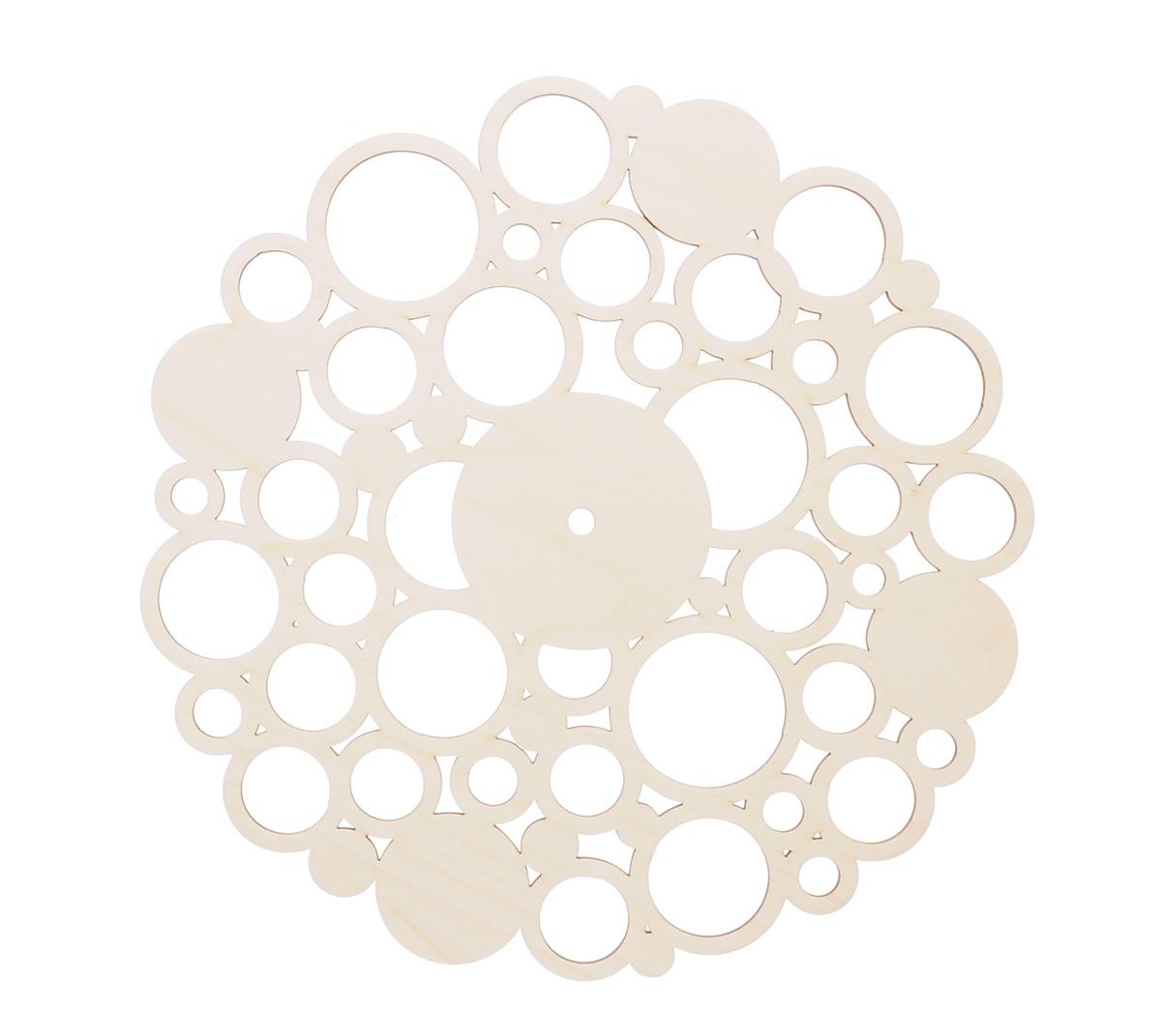 Деревянная заготовка Астра Циферблат. Круги, диаметр 29 см486761Заготовка Астра Циферблат. Круги изготовлена из дерева. Изделие станет хорошим объектом для вашего творчества и занятий декупажем. А присоединив к украшенной заготовке часовой механизм у вас получатся оригинальные часы. Заготовка, раскрашенная красками, будет прекрасным украшением интерьера или отличным подарком. Часовой механизм в комплект не входит.