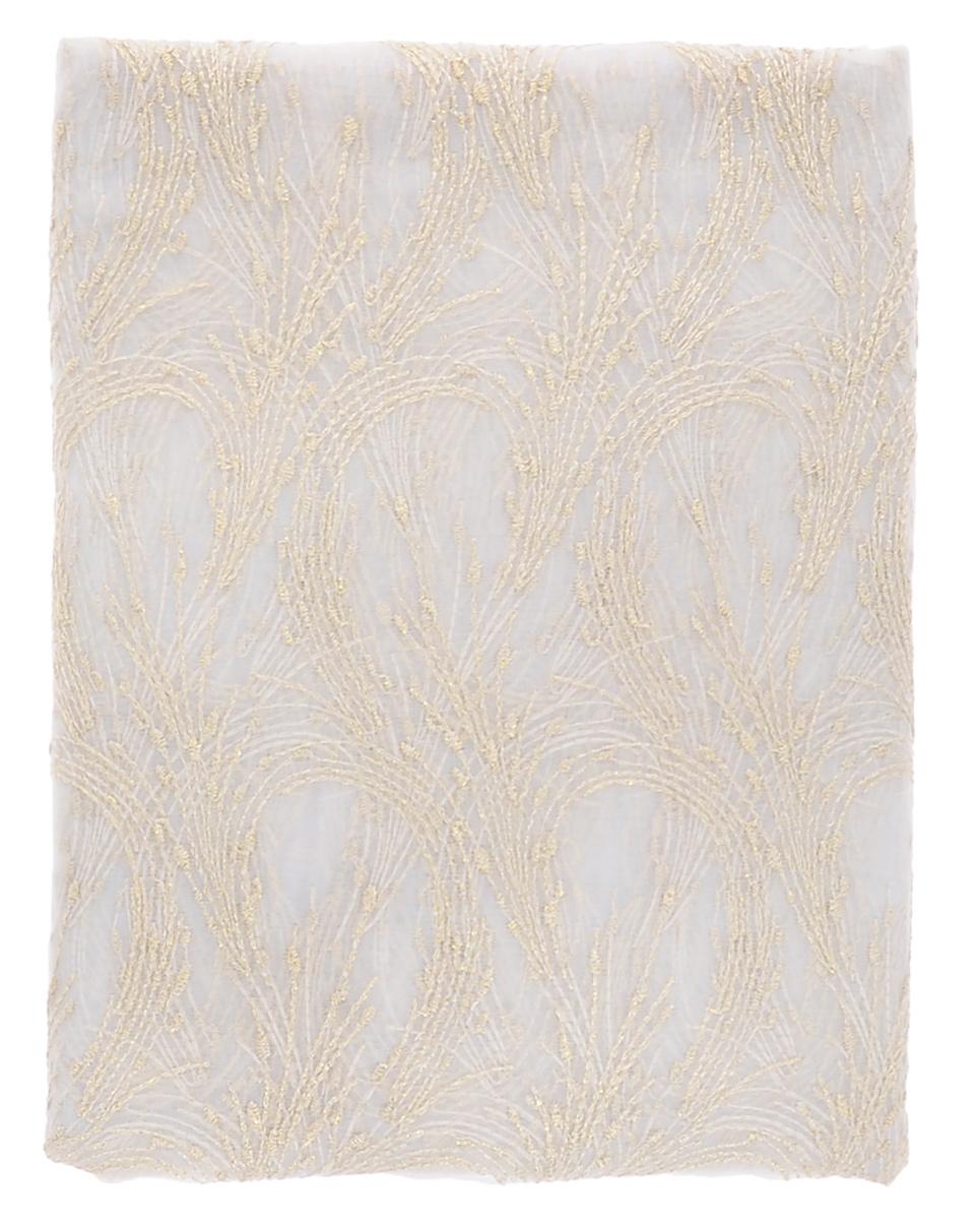 Штора Garden, на ленте, цвет: белый, золотой, высота 260 см. С 537019 АС 537019 А_золотой салютРоскошная вуалевая штора Garden выполнена из 100% полиэстера и оформлена изящной вышивкой с люрексом. Оригинальная текстура ткани, тонкое плетение и изящный дизайн привлекут к себе внимание и позволят шторе органично вписаться в интерьер помещения. Эта штора будет долгое время радовать вас и вашу семью! Штора крепится на карниз при помощи ленты, которая поможет красиво и равномерно задрапировать верх. Стирка при температуре 30°С. В комплект входит: - Штора - 1 шт. Размер (ШхВ): 140 см х 260 см.