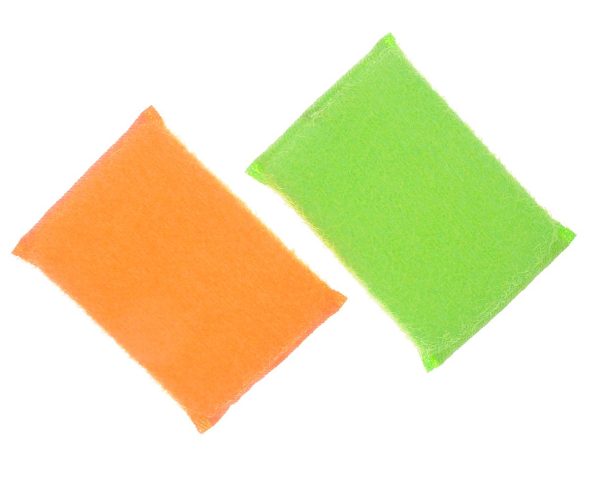 Губка для мытья посуды Хозяюшка Мила Кактус, цвет: оранжевый, зеленый, 2 шт4610000261705_оранжевый, зеленыйНабор Хозяюшка Мила Кактус состоит из 2 губок, изготовленных из поролона. Они предназначены для интенсивной чистки и удаления сильных загрязнений с посуды (противни, решетки-гриль, кастрюли). Не рекомендуется использовать для посуды с антипригарным покрытием. Губки сохраняют чистоту и свежесть даже после многократного применения, а их эргономичная форма удобна для руки. Размер губки: 12 х 2 х 8 см.