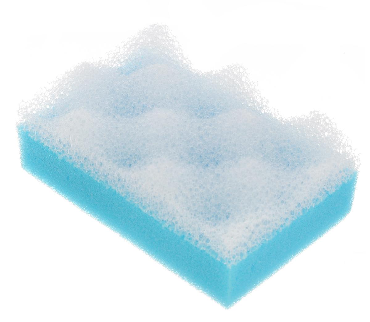 Губка для тела Eva, с массажным слоем, цвет: голубойМГ001_голубойПоролоновая двухслойная губка для тела Eva изготовлена из пенополиуретана и оснащена массажным слоем. Губку можно использовать в ванной, в бане или сауне. Она улучшает циркуляцию крови и обмен веществ, делает кожу здоровой и красивой. Подходит для ежедневного применения.