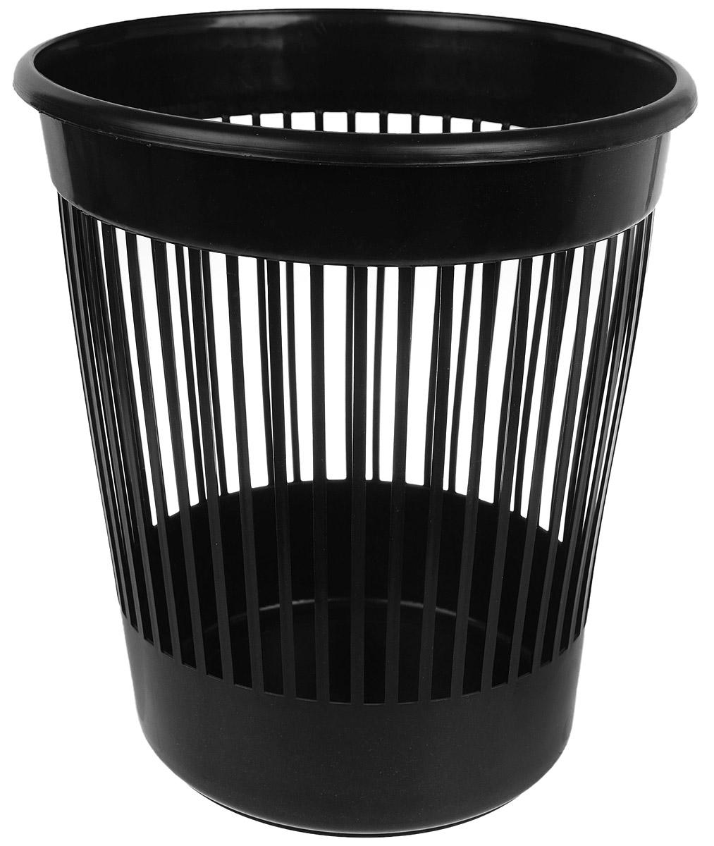 Корзина для бумаг Алеана, цвет: черный, 12 л122052_черныйКорзина Алеана, выполненная из высококачественного полипропилена, предназначена для сбора мелкого мусора и бумаг. Стенки изделия с перфорацией. Такая корзина поможет содержать ваше рабочее место в порядке, а лаконичный дизайн отлично впишется в любой интерьер дома или офиса. Диаметр корзины (по верхнему краю): 28 см. Высота корзины: 30 см.