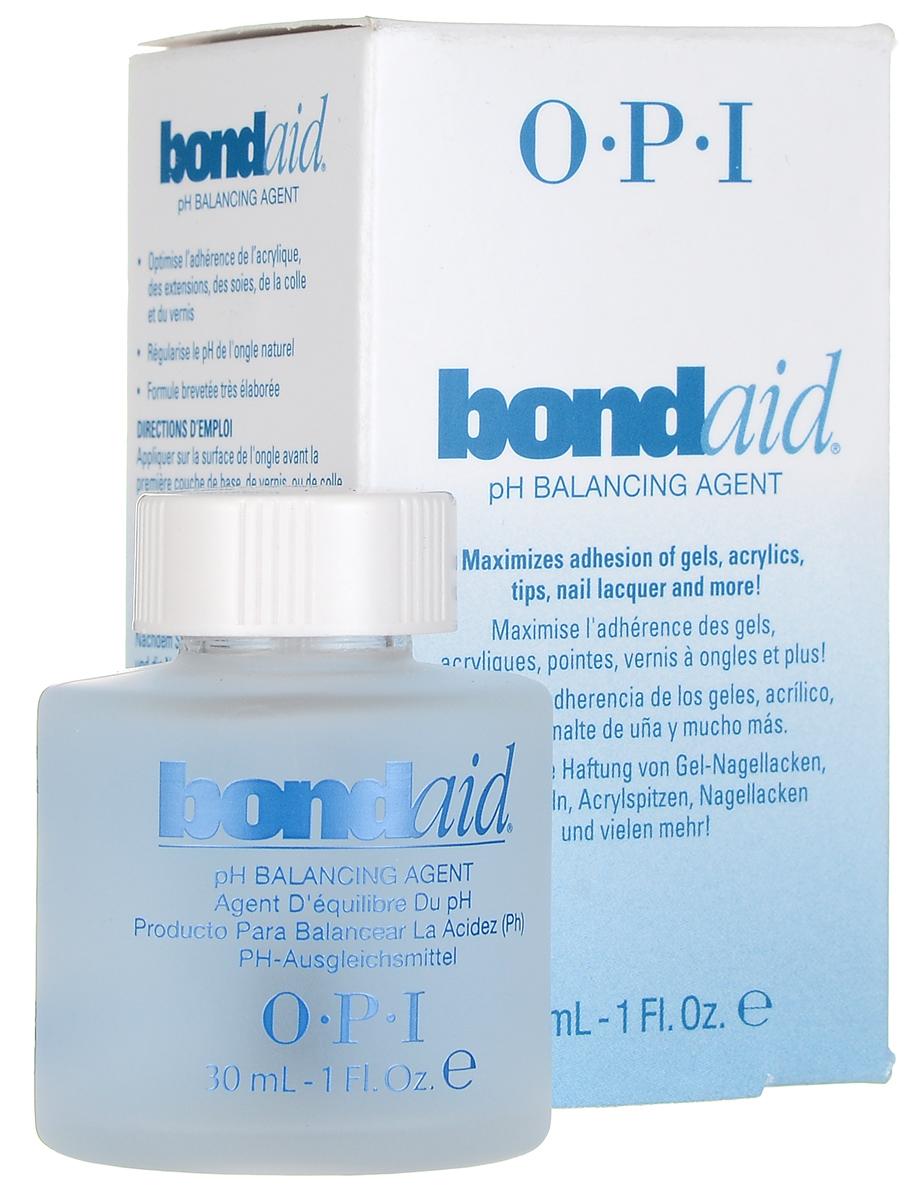 OPI Средство для ногтей Bond-Aid, восстанавливающее pH-баланс, 30 млBB010Средство для ногтей OPI Bond-Aid восстанавливает уровень кислотности ногтя, создавая необходимый pH-баланс. Рекомендуется использовать до нанесения любых покрытий. Обеспечивает максимальное крепление к поверхности натурального ногтя любых искусственных покрытий. После применения лак на ногтях продержится в 2 раза дольше. Товар сертифицирован.