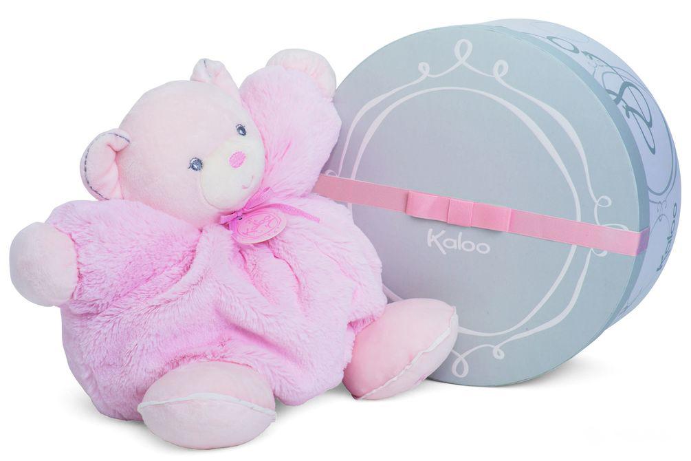 Мишка большой розовый, коллекция Жемчуг