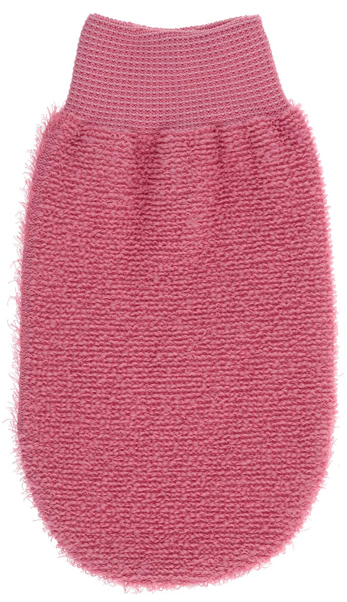 Riffi Мочалка-рукавица, массажная, двухсторонняя, цвет: коралловый. 707