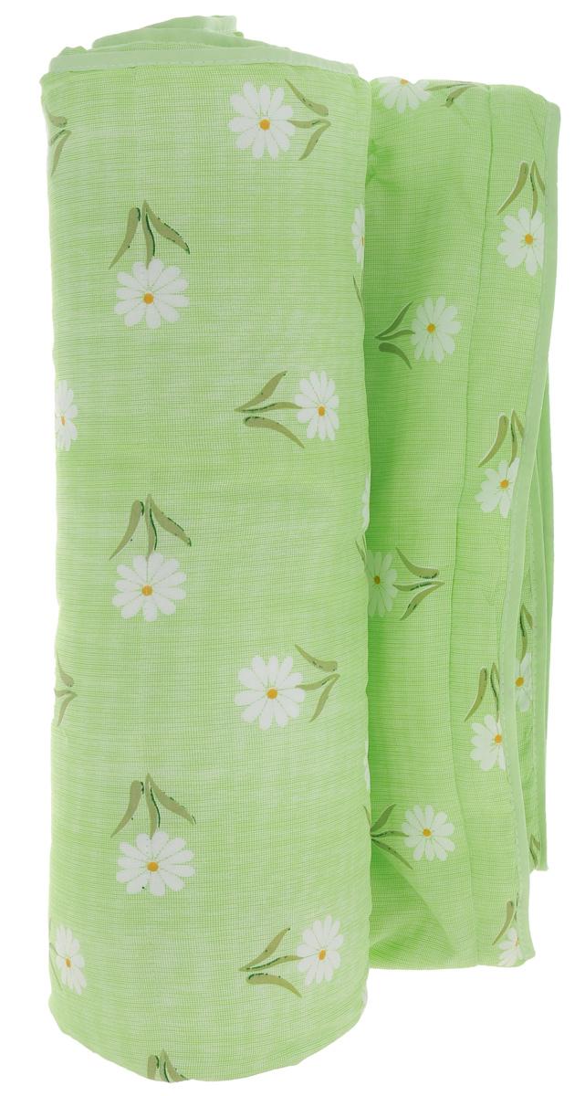 """Одеяло летнее OL-Tex """"Miotex"""", наполнитель: полиэфирное волокно Holfiteks, цвет: салатовый, белый, 200 х 220 см"""