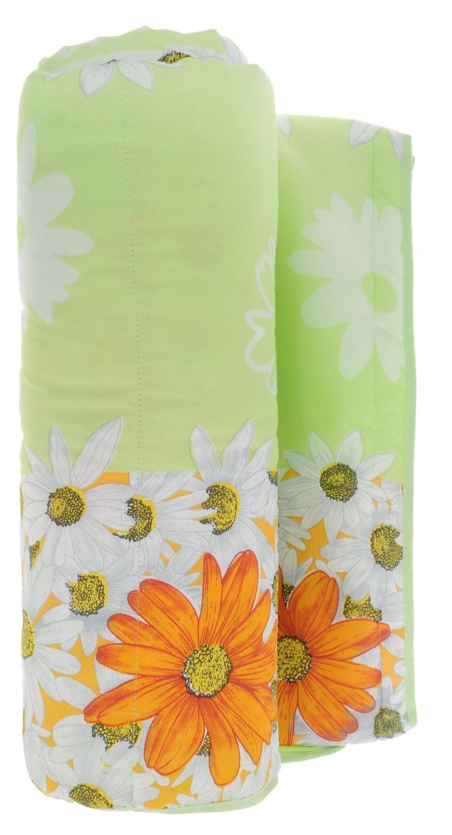 Одеяло летнее OL-Tex Miotex, наполнитель: полиэфирное волокно Holfiteks, цвет: салатовый, желтый, 200 см х 220 смМХПЭ-22-1_зеленый, крупные ромашкиЛегкое летнее одеяло OL-Tex Miotex создаст комфорт и уют во время сна. Чехол выполнен из полиэстера и оформлен красочным рисунком. Внутри - современный наполнитель из полиэфирного высокосиликонизированного волокна Holfiteks, упругий и качественный. Прекрасно держит тепло. Одеяло с наполнителем Holfiteks легкое и комфортное. Даже после многократных стирок не теряет свою форму, наполнитель не сбивается, так как одеяло простегано и окантовано. Не вызывает аллергии. Holfiteks - это возможность легко ухаживать за своими постельными принадлежностями. Изделие можно стирать - оно быстро и полностью высыхает, что обеспечивает гигиену спального места при невысокой цене на продукцию. Плотность: 100 г/м2.