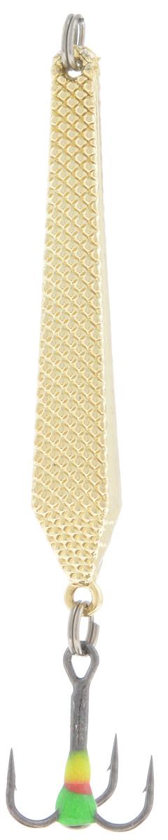 Блесна зимняя SWD, цвет: золотой, 55 мм, 6 г48197Блесна зимняя SWD - это классическая вертикальная блесна. Выполнена из высококачественного металла. Предназначена для отвесного блеснения рыбы. Блесна оснащена тройником со светонакопительной каплей.
