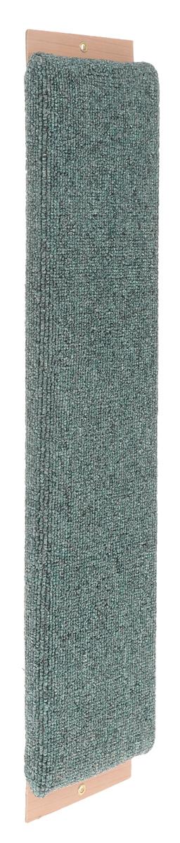 Когтеточка Зверье Мое, с привлекающей пропиткой, цвет: зеленый, длина 60 см. 1923919239_зеленыйКогтеточка Зверье Мое поможет сохранить мебель и ковры в доме от когтей вашего любимца, стремящегося удовлетворить свою естественную потребность точить когти. Когтеточка изготовлена из ДСП и обтянута ковролином. На когтеточке имеются 2 отверстия для крепления к стене. Товар продуман в мельчайших деталях и, несомненно, понравится вашей кошке. Всем кошкам необходимо стачивать когти. Когтеточка - один из самых необходимых аксессуаров для кошки. Для легкого приучения питомца изделие обработано привлекающей пропиткой.