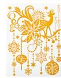 Набор новогодних оконных украшений Lunten Ranta Нежность, цвет: золотистый. 6592165921Новогоднее оконное украшение Lunten Ranta Нежность поможет украсить дом к предстоящим праздникам. Наклейка выполнена из ПВХ в виде снеговиков и декорирована блестками. Новогодние украшения всегда несут в себе волшебство и красоту праздника. Создайте в своем доме атмосферу тепла, веселья и радости, украшая его всей семьей.