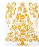Набор новогодних оконных украшений Lunten Ranta Нежность, цвет: золотистый. 65921, елка65921_елка