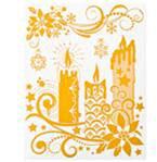 Набор новогодних оконных украшений Lunten Ranta Нежность, цвет: золотистый. 65921, свеча65921_свеча