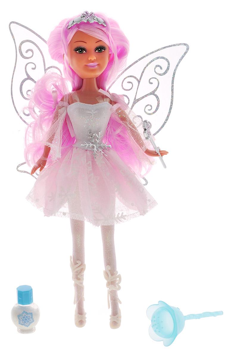 Brilliance Fair Кукла Зимняя фея Кристал240249_CrystalВеликолепная кукла Brilliance Fair Зимняя фея Кристал обязательно порадует вашу малышку и доставит ей много удовольствия от часов, посвященных игре с ней. . Куколка с длинными розовыми волосами и зелеными глазами одета в великолепный наряд: оригинальное платье с многослойной юбкой, украшенной белыми снежинками. На ножках у феи высокие белые босоножки. Наряд дополняют ажурные блестящие крылышки. Вместе с куклой в наборе предлагается оригинальная диадема со снежинкой и сердечками. У феи также имеется волшебная палочка, которую она может взять в руку и аксессуары для магии: волшебный цветок и флакон с чудесным порошком. Куколка-фея станет настоящей подружкой для своей юной обладательницы! Порадуйте свою малышку таким великолепным подарком!
