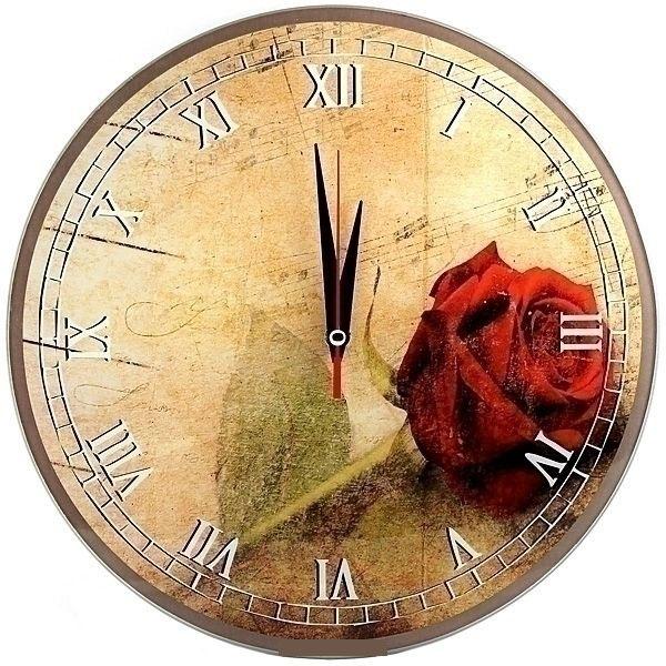Часы настенные Эврика Роза, цвет: красный, желтый, зеленый95303Оригинальные настенные часы Роза круглой формы выполнены из стекла и оформлены изображением розы. Часы имеют три стрелки - часовую, минутную и секундную. Циферблат часов не защищен. Необычное дизайнерское решение и качество исполнения придутся по вкусу каждому. Оформите свой дом таким интерьерным аксессуаром или преподнесите его в качестве презента друзьям, и они оценят ваш оригинальный вкус и неординарность подарка. Диаметр часов: 28 см. Работают от батарейки типа АА (в комплект не входит).