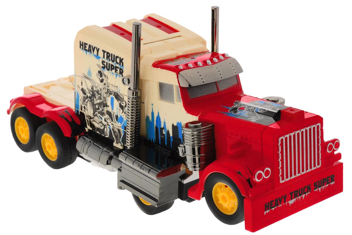 Zhorya Машина на радиоуправлении Автоагент цвет красныйХ75379Радиоуправляемая модель Zhorya Автоагент обязательно привлечет внимание и взрослого, и ребенка, и несомненно понравится любому мальчишке. Игрушка выполнена в виде грузовика, который нажатием кнопки трансформируется в боевого робота. Модель изготовлена из прочного пластика, имеет прорезиненные колесики, которые обеспечивают надежное сцепление с поверхностью, и дополнена лампочками со световыми эффектами. Игрушка может вращаться на 360°, она двигается вперед, дает задний ход, поворачивает влево и вправо, останавливается. Игрушка также дополнена световыми и звуковыми эффектами. Пульт имеет эргономичные ручки, благодаря чему его удобно держать. Ваш ребенок часами будет играть с моделью, придумывая различные истории и устраивая соревнования. Порадуйте его таким замечательным подарком! Для работы пульта управления необходимо докупить 2 батарейки типа АА (не входят в комплект).