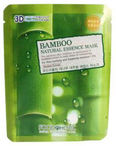 FoodaHolic Тканевая 3D маска с натуральным экстрактом бамбука 3D Mash Sheet, 23 мл600741Тканевая 3D маска с натуральным экстрактом бамбука, 23гр Маска на тканевой основе обогащена пропиткой с эссенцией, отличающейся высоким содержанием активных ингредиентов и обогащена экстрактом бамбука. Он содержит множество минеральных солей, а также эфирные. масла. Улучшает эластику капилляров и кровообращение, устраняет отечность, Гиалуроновая кислота восстанавливает эластановые волокна и возвращает молодость, придает сияющий вид