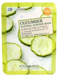FoodaHolic Тканевая маска с экстрактом огурца 3D Mash Sheet, 23 мл