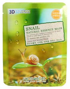 FoodaHolic Тканевая 3D маска с натуральным экстрактом секрета улитки (муцином) Mash Sheet, 23 мл621358Тканевая 3D маска с натуральным экстрактом секрета улитки (муцином), 23гр Маска на тканевой основе обогащена пропиткой с эссенцией, отличающейся высоким содержанием активных ингредиентов и обогащена улиточным муцином. Усиливает процесс обновления клеточек, омолаживает и дарит здоровый, яркий оттенок. выравнивает поверхность дермы при наличии шрамиков и неровностей.