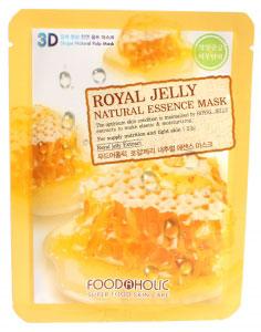 FoodaHolic Тканевая 3D маска с натуральным экстрактом пчелиного маточного молочка Mash Sheet, 23 мл