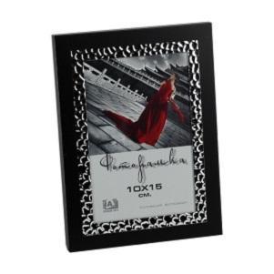 Фоторамка Image Art 6040-4B, черная с серебром 10*156035-4G