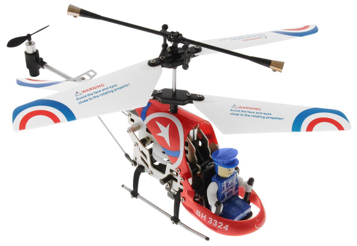 Властелин небес Вертолет на инфракрасном управлении Патруль цвет красныйBH 3324_красный, белый, синийВертолет Властелин небес Патруль c инфракрасным управлением и встроенным гироскопом отлично подходит для полетов в закрытых помещениях и на улице в безветренную погоду. Гироскоп предназначен для курсовой стабилизации полета. Выполнен из прочного материала, поэтому риск повреждений игрушки при ударах и падениях сведен к минимуму. Вертолет небольшой и маневренный и легко обходит препятствия, послушно следуя командам c пульта управления. Игрушка может летать вперед-назад, вверх-вниз, вправо-влево, поворачивать, вращаться и зависать в воздухе. Вертолет оснащен проблесковыми огнями для полета в темноте. Имеется возможность подзарядки вертолета от пульта и USB-шнура. Полностью заряженный вертолет летает 5-6 минут. Игрушка развивает многочисленные способности ребенка - мелкую моторику, пространственное мышление, реакцию и логику. Вертолет работает от встроенного аккумулятора (Li-Po 3,7V), который можно заряжать от USB-шнура (входит в комплект). Для работы пульта...