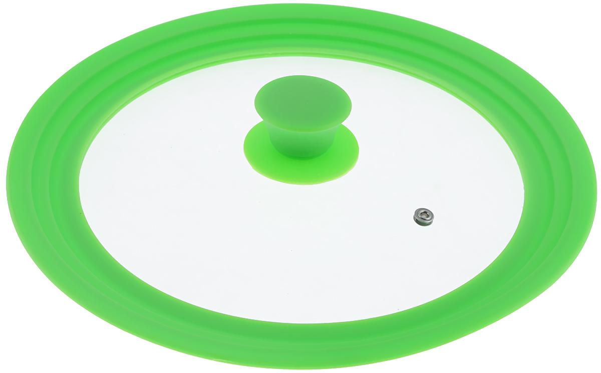 """Крышка универсальная """"Miolla"""", цвет: зеленый, для сковород и кастрюль диаметром 24, 26, 28 см"""