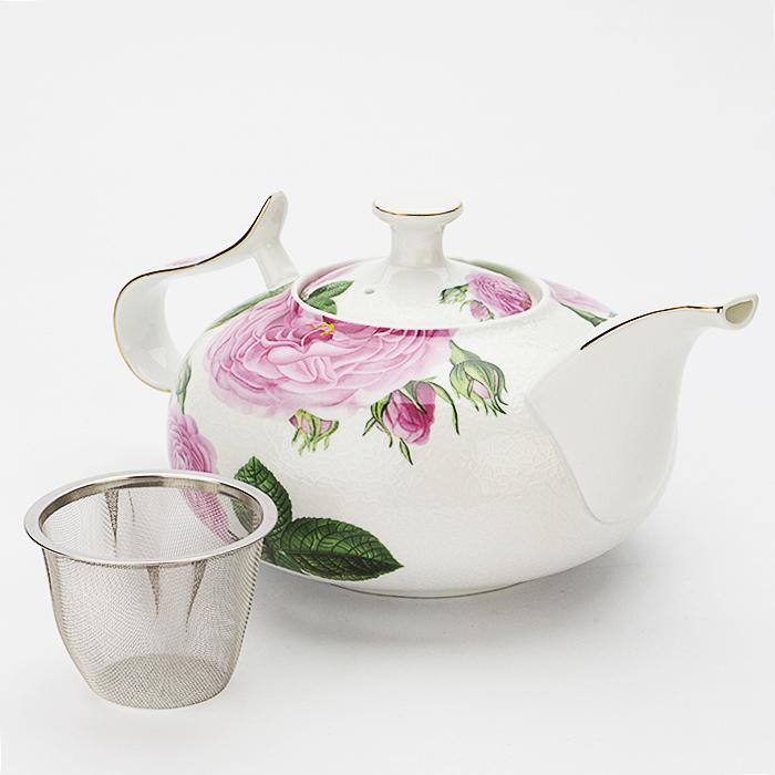21151 Заварочный чайник 1л керамика ПИОНЫ МВ (х12)21151Заварочный чайник (1 л) Материал: керамика, нержавеющая сталь Размер упаковки:26х13,5х16,5 см Объем: 1,0 л Вес: Заварочный чайник Mayer&Boch, выполненный из керамики и оформленный нежным цветочным рисунком, станет незаменимым помощником на кухне. Он сочетает в себе изысканный дизайн с максимальной функциональностью. Съемное ситечко позволит насладиться чистым напитком, без чаинок. Такой чайник станет незаменимым атрибутом чаепития и послужит не только приятным подарком, но и практичным сувениром.