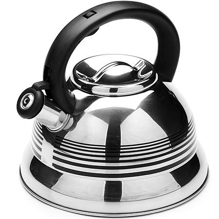 24176 Чайник мет. MB 2,6л.руч/пл. МВ (х12)24176Чайник со свистком Объем: 2,6 л Материал: Нержавеющая сталь Крышка: Нержавеющая сталь Ручка: Пластик Комплектация: 2 предмета Размер коробки: 22,5 х 22,5 х 21,5 см Вес: 1,3 кг Чайник изготовлен из нержавеющей стали, что делает его весьма устоичивым к износу при длительном использовании, Выполнен из качественных материалах при кипячении сохраняет все полезные свойства воды