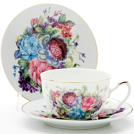 24597 Чайная пара 2пр 250мл РОЗЫ LR (х24)24597Чайная пара (1 чашка+1 блюдце) Материал: керамика Рисунок: фиалки Объем чашки: 250 мл Вес: 280 г Размер коробки: 15,5 х 15,5 х 7 см Этот чайный набор, выполненный из керамики, состоит из 1 чашка и 1 блюдце. Предметы набора офрмлены ярким изображением цветов.Изящный дизайн и красочность оформления придутся по вкусу и ценителям классики, и тем, кто предпочитает утонченность и изысканность. Чайная пара- идеальный и необходимый подарок для вашего дома и для ваших друзей в праздники, юбилеи и торжества! Он также станет отличным корпоративным подарком и украшением любой кухни. Чайная пара упакована в подарочную коробку из плотного цветного картона. Внутренняя часть коробки задрапирована белым атласом.