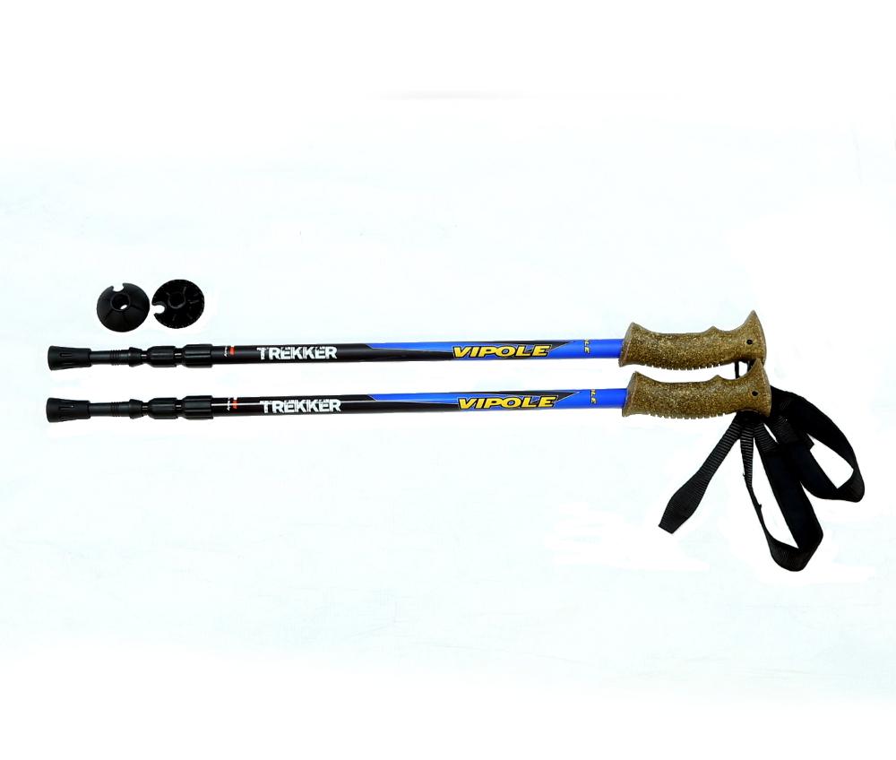 Палки треккинговые Vipole Trekker Blue, телескопические. S15 41