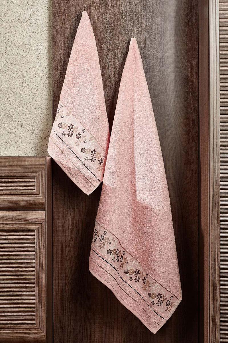 Полотенце махровое Primavelle Mile, цвет: светло-розовый, 70 х 140 см2857014-M41Махровое полотенце Primavelle Mile - невероятно стильный и современный аксессуар для вашей ванной. Полотенце, изготовленное из натурального хлопка с оригинальной цветочной вышивкой, подарит массу положительных эмоций и приятных ощущений. Изделие отличается нежностью и мягкостью материала, утонченным дизайном и превосходным качеством. Оно прекрасно впитывает влагу, быстро сохнет и не теряет своих свойств после многократных стирок. Махровое полотенце Primavelle Mile станет достойным выбором для вас и приятным подарком для ваших близких.