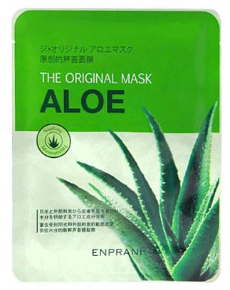 Enprani Тканевая маска с натуральным экстрактом алое The Original Mask Sheet, 23 мл10610522Тканевая маска с натуральным экстрактом алое,23мл Маска с экстрактом алоэ интенсивно питает и увлажняет кожу. Экстракт алоэ улучшает регенерацию клеток кожи, оказывает антибактериальное и противовоспалительное действие.Маска способствует заживлению ранок и ссадин на коже, улучшает кровообращение и способствует обновлению клеток кожи. Маска насыщает кожу витаминами, минералами и аминокислотами, способствуя продлению молодости и красоты кожи лица.Использование маски окажет успокаивающее действие на усталую кожу, снимет раздражение и сделает кожу шелковистой и мягкой.