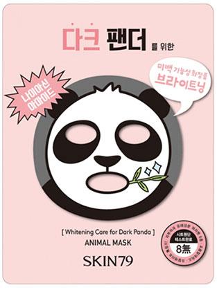 SKIN79 Тканевая маска для лица для осветления пигментации Animal Mask, 23 гр400068Тканевая маска для лица для осветления пигментации ,23гр, SKIN79 Зверомаска «Темная Панда» выполненная в виде привлекательной панды, содержит нициамид, который придает коже сияние и свежесть. Маска осветляет кожу, в том числе темные круги под глазами! Комплекс из виноградных косточек выравнивает тон кожи и придает ей яркость. Экстракты свежих фруктов позаботятся о Вашей кожк и устранят все ее недостатки! В состав не входят 8 вредных веществ: 3 вида парабенов, формальдегид и фталат)
