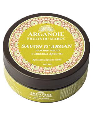 Дом Арганы Мыло с маслом арганы, 140 мл70469Мягкое желеобразное марокканское мыло с маслом арганы с деликатным ароматом горного меда изготавливают по той же технологии, что и традиционное. Благодаря добавлению в мыло масла Арганы, происходит обогащение мыла природными витаминами, полиненасыщенными кислотами. Витамин F и Терпены (углеводороды), содействуют выздоровлению и росту новых здоровых клеток кожи и обладают смягчающими и питательными свойствами, кожа защищена от пересушивания. Используется для повседневного умывания, ухода за кожей лица и тела, в банных процедурах эффективно используется с традиционной рукавицей Кесса.