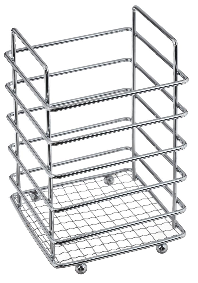 Подставка для столовых приборов квадр., арт.05093130509313Материал: сталь хромированная