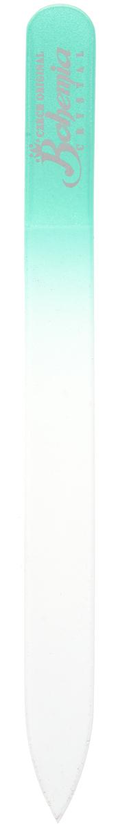 Bohemia Пилка для ногтей, стеклянная, цвет: бирюзовый, 12 см. 233cz-1402