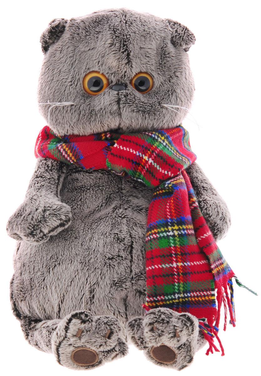 Мягкая игрушка Басик и красный шарф в клеточку 30 смKs30-017Мягкая игрушка Басик и шарф в клеточку подарит малышу немало прекрасных мгновений. Дети очень трепетно относятся к домашним животным, особенно они любят котов и собак и часто просят своих родителей приобрести им такого друга. Однако домашние питомцы не всегда хорошо влияют на детей - они могут поцарапать и даже вызвать аллергическую реакцию, поэтому приходят на помощь мягкие игрушки, очень похожие на настоящих питомцев. С этим шотландским вислоухим котиком можно играть, отдыхать и засыпать в обнимку, рассказывая свои секреты. У него густая плюшевая шерстка, которую так приятно гладить. У Басика круглые медовые глазки, маленькие ушки и черный носик. Котик укутан в объемный шерстяной шарф в красно-зеленую клетку. Мягкие игрушки очень полезны для малышей, потому что весьма позитивно влияют на детскую нервную систему, прогоняя всевозможные страхи. Играя, малыш развивает фантазию и воображение, развивает тактильную чувствительность и хватательные...