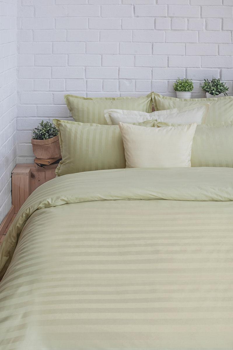 Комплект постельного белья Оливковый сад (зеленый) сатин, 205ТС, 100% хлопок, дуэт00000004537Концепция удобства 1. Экономия времени и сил. Благодаря наличию в верхней части пододияльника специальных клапанов для рук заправить одеяло можно в 3 раза быстрее. 2. Удобство использования и экономия. Наволочка-трансформер: благодаря особой модели пошива и наличию специальных декоративных кнопок наволочка размером 70х70 см с легкостью трансформируется в наволочку 50х70 см- больше не нужно переплачивать за неиспользуемые размеры наволочек. Плотность плетения ткани: 130 +- 5 гр/м2