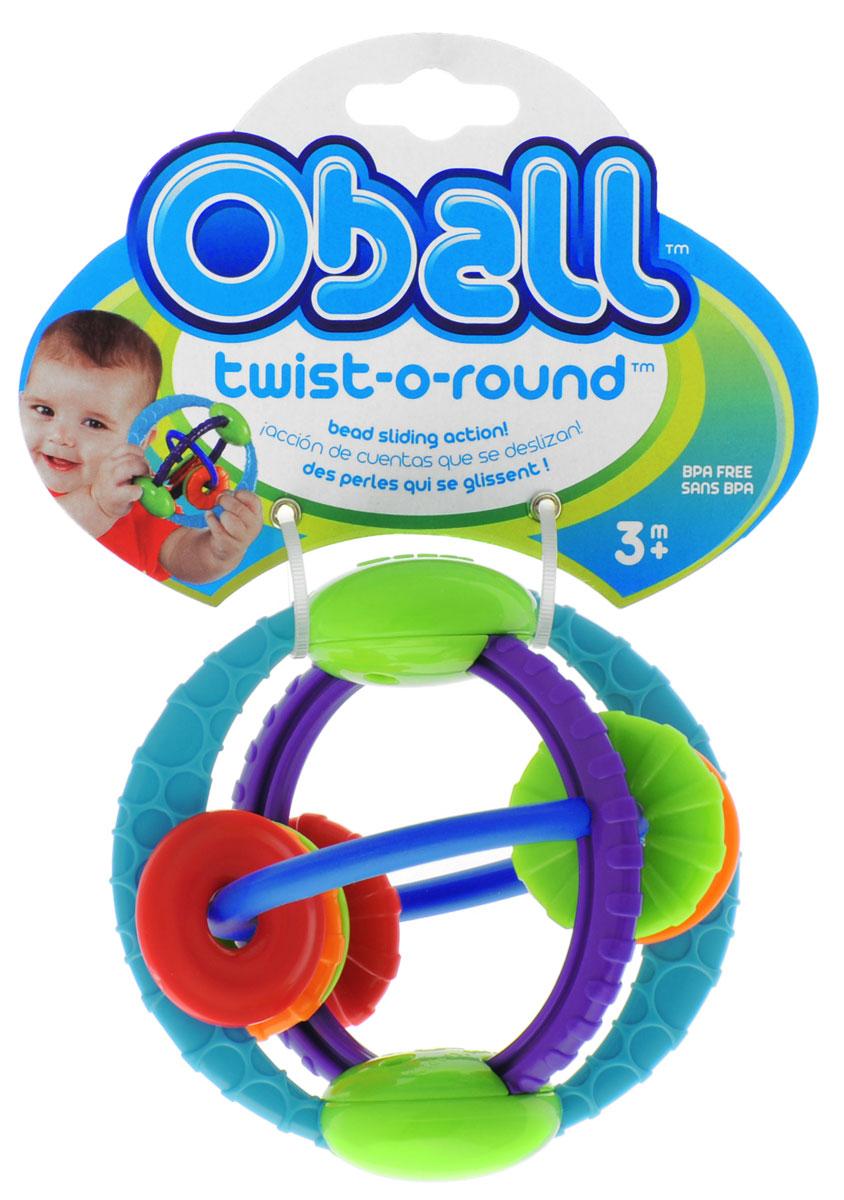 Oball Развивающая игрушка Twist-O-Round81154Яркая развивающая игрушка Oball Twist-O-Round, изготовленная из абсолютно безопасных для ребенка материалов в виде шара. Все элементы игрушки двигаются и легко перемещаются. При движении колец игрушка забавно трещит благодаря щелкающему механизму. Рельефные кольца и бусинки помогут успокоить нежные десна малыша. Такую игрушку легко хватать маленькими ручками. Развивающая игрушка Twist-O-Round способствует развитию цветовосприятия, звуковосприятия и мелкой моторики рук.