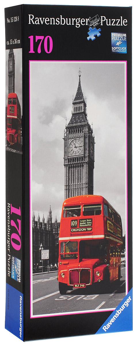 Ravensburger Пазл Лондонский автобус15128Пазл Лондонский автобус немецкой марки Ravensburger весьма необычен и оригинален. Он имеет вытянутую прямоугольную форму, что отличает его от большинства подобных наборов. Каждая деталь в данном комплекте уникальна. Неповторимая форма элементов пазла облегчает процесс сборки. Элементы этого пазла отличаются высочайшим качеством глянцевого материала. На готовой картине вы увидите великолепный британский городской пейзаж, выполненный в черно-белой палитре, и яркий автобус насыщенного красного цвета. Склеив готовую картинку, вы получите полноценный предмет интерьера, которым можно будет украсить стену одной из комнат. В этом случае изображение придает жилому помещению особенную атмосферу.