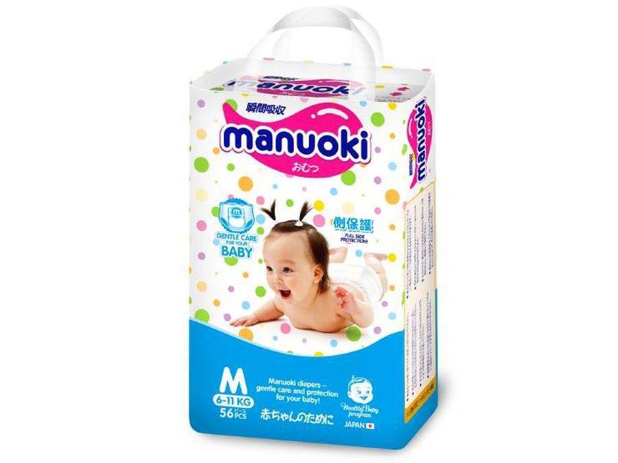 Manuoki подгузники-трусики размер M 6-11 кг 56 шт4987072026311Бренд: MANUOKI зародился в стране восходящего солнца и признанного качества – Японии. Продукция разрабатывалась для внутреннего рынка, что красноречиво говорит о том, что для MANUOKI были использованы не только самые лучшие материалы, но и современные технологии! Эти подгузники были созданы специально для частной торговой марки Японии – одной из крупнейших торговых сетей, а значит, производитель не экономил на компонентах, обеспечивающих безопасность, комфорт и удобство в применении. Японцы, как известно, лучше других производителей предметов детской гигиены понимают, что от качества их исполнения зависит не только здоровье малыша, но и спокойствие мамы. В основе одноразового подгузника MANUOKI лежит впитывающий, состоящий из современного и высокотехнологичного абсорбента слой, который поглощает жидкость, превращая ее в гель, который запирает ее в себе навсегда. Даже большой объем не страшен этим супер-впитывающим трусикам! Устроены универсальные трусики-подгузники MANUOKI следующим...