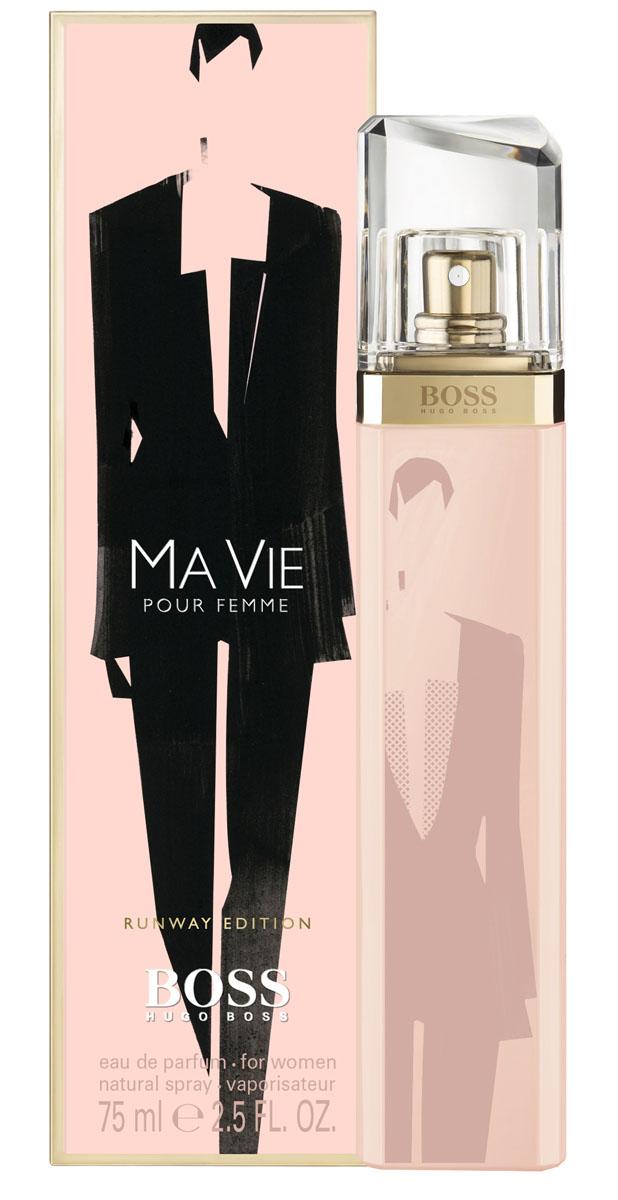 Hugo Boss Runway Ma vie парфюмерная вода 75 мл (лимитированный выпуск)0730870120194Сильный, женственный, уникальный аромат. Аромат принадлежит к той же группе что и D&G L'Imperatrice! Цветок кактуса-придает свежесть, символ нового аромата. Бутоны розы-женственность Кедровое дерево-интенсивность и теплота.