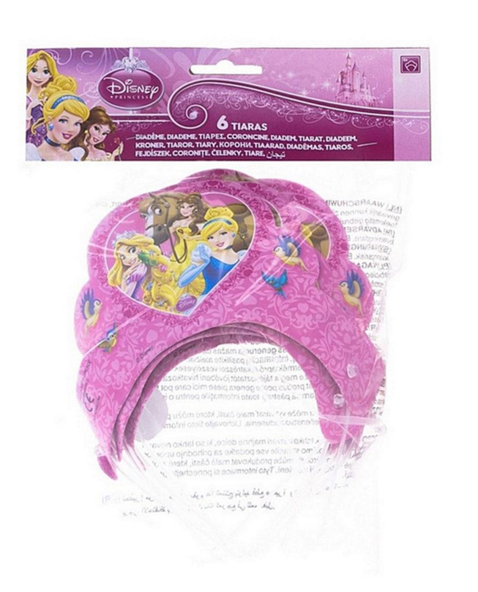 Procos Маска карнавальная детская Корона Принцессы, 6 шт82656Любая девочка сможет почувствовать себя героиней любимых мультфильмов с коронами Принцессы- это отличный аксессуар для того,что бы разнообразить детский праздник или тематическую вечеринку. Набор включает в себя 6 светло-розовых корон, c красивыми рисунками в нежных тонах, которые приведут в восторг любую девочку! Можно раздать короны гостям,что бы воплотить их в единую компанию и создать простор для фантазий и игр на тему диснеевских сказок. Короны выполнены из бумаги и раскрашены нетоксичными, высококачественными красками.
